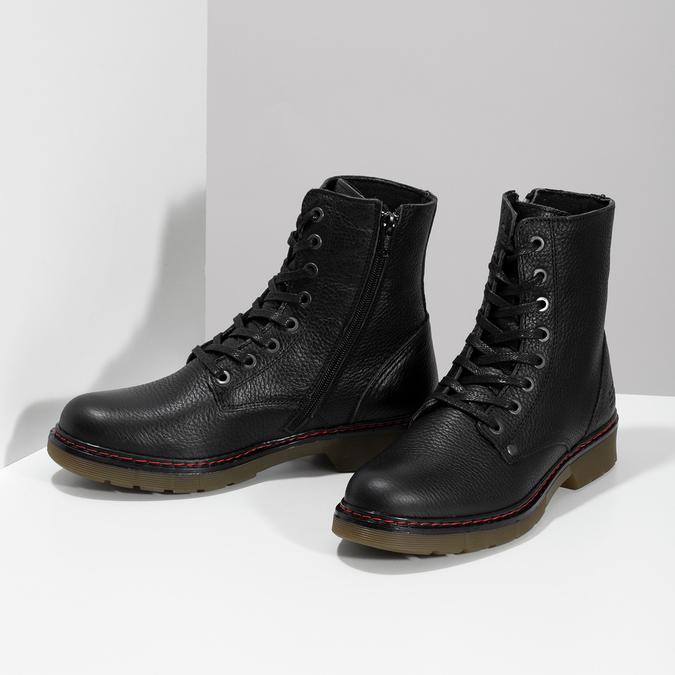 Czarne skórzane obuwie damskie typu chelsea bata, czarny, 596-6732 - 16