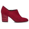 Czerwone skórzane botki zćwiekami bata, czerwony, 723-5661 - 19