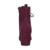 Bordowe sznurowane kozaki damskie bata-red-label, czerwony, 799-5633 - 15