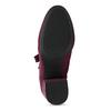 Bordowe sznurowane kozaki damskie bata-red-label, czerwony, 799-5633 - 18