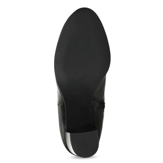 Skórzane kozaki damskie zpomarszczoną cholewką bata, czarny, 794-6664 - 18
