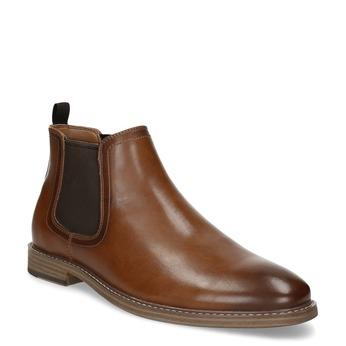 Brązowe buty męskie typu Chelsea bata-red-label, brązowy, 821-3611 - 13