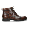 Brązowe błyszczące obuwie męskie za kostkę bata, brązowy, 896-3720 - 19