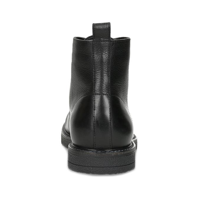 Czarne skórzane obuwie męskie za kostkę bata, czarny, 894-6721 - 15
