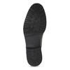 Brązowe błyszczące obuwie męskie za kostkę bata, brązowy, 896-3720 - 18