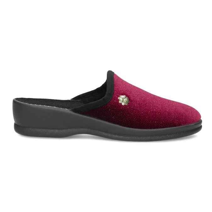 Czerwone kapcie damskie bata, czerwony, 579-5631 - 19