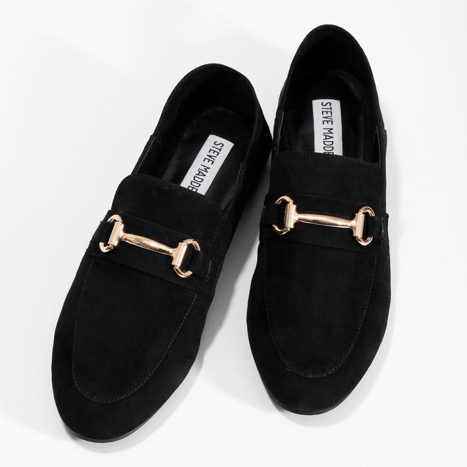 Czarne zamszowe loafersy damskie steve-madden, czarny, 513-6026 - 16