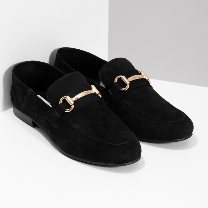 Czarne zamszowe loafersy damskie steve-madden, czarny, 513-6026 - 26