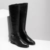 Czarne skórzane kozaki damskie bata, czarny, 594-6676 - 26
