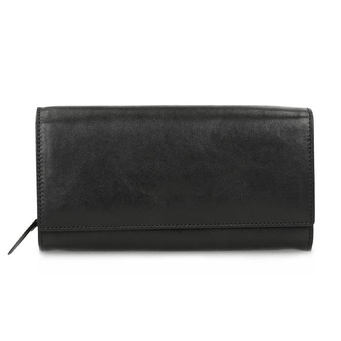 Czarny skórzany portfel damski bata, czarny, 944-6216 - 26
