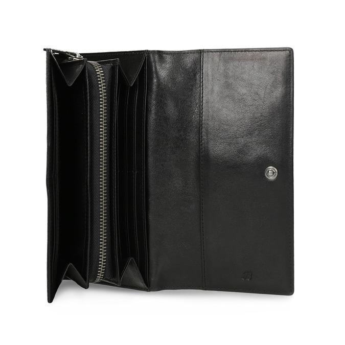 Czarny skórzany portfel damski bata, czarny, 944-6216 - 15