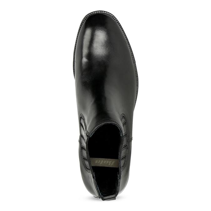 Skórzane obuwie damskie typu chelsea zkryształkami bata, czarny, 594-6682 - 17