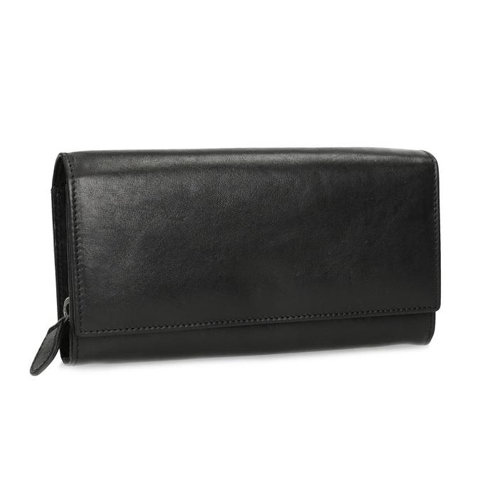 Czarny skórzany portfel damski bata, czarny, 944-6216 - 13