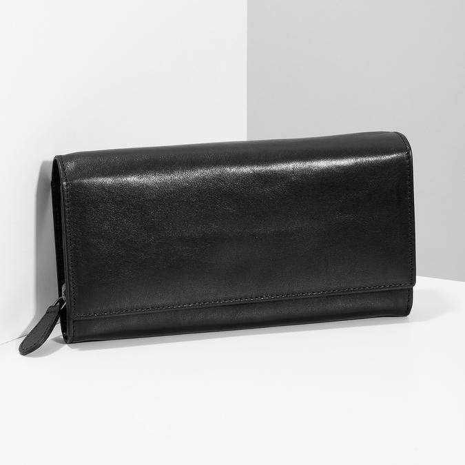 Czarny skórzany portfel damski bata, czarny, 944-6216 - 17