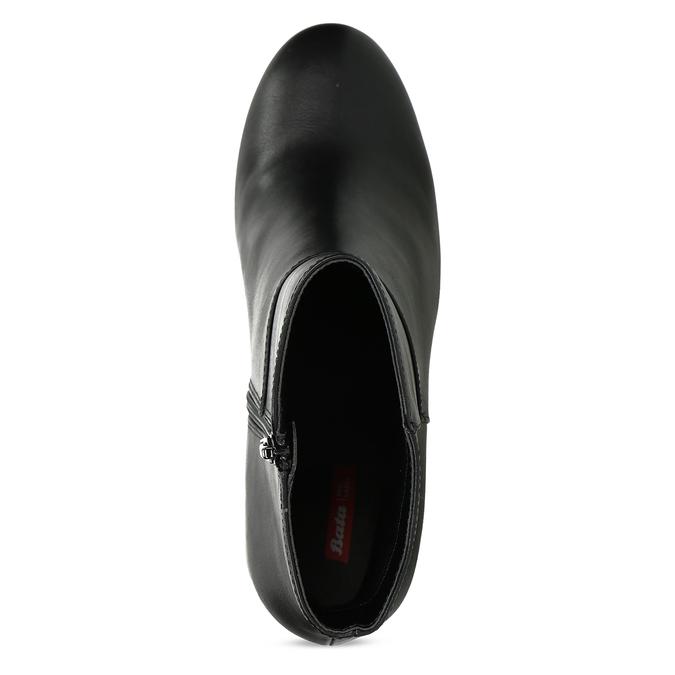 Czarne niskie kozaki damskie na obcasach bata-red-label, czarny, 791-6628 - 17