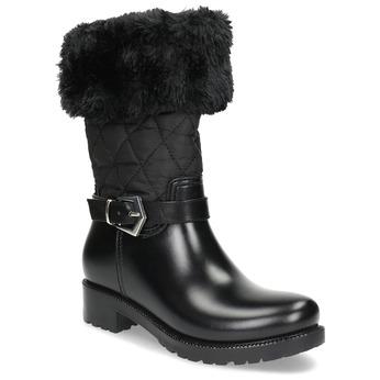 Czarne śniegowce damskie zfuterkiem bata, czarny, 592-6602 - 13
