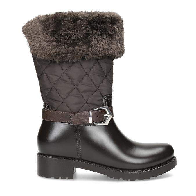 Brązowe śniegowce damskie zfuterkiem bata, brązowy, 592-4602 - 19