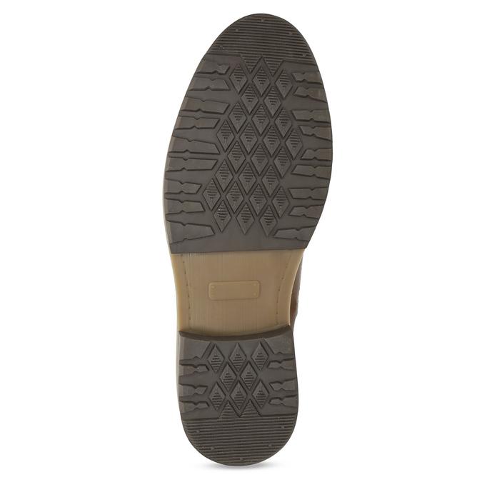 Brązowe skórzane obuwie męskie za kostkę bata, brązowy, 896-3713 - 18