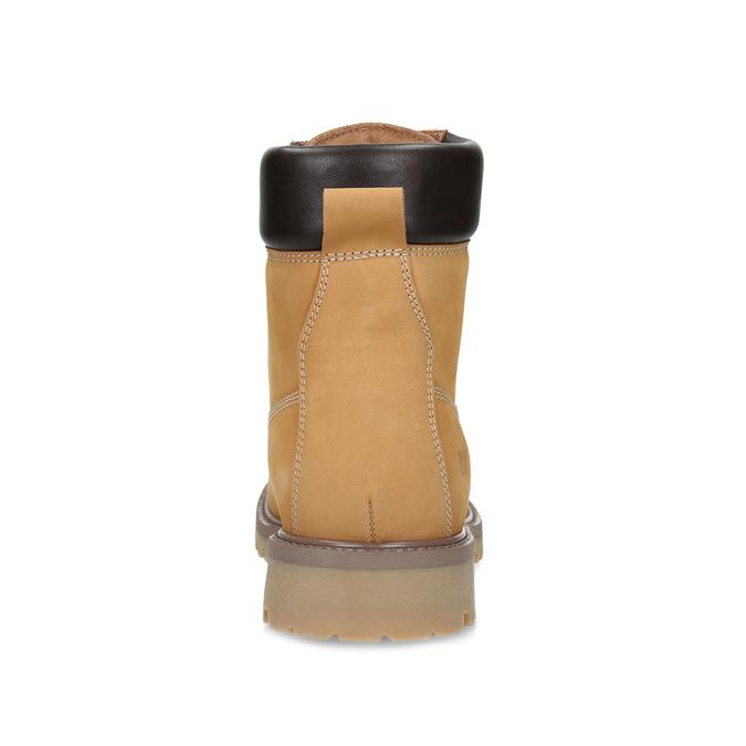 Sznurowane obuwie męskie za kostkę weinbrenner, żółty, 896-8733 - 15