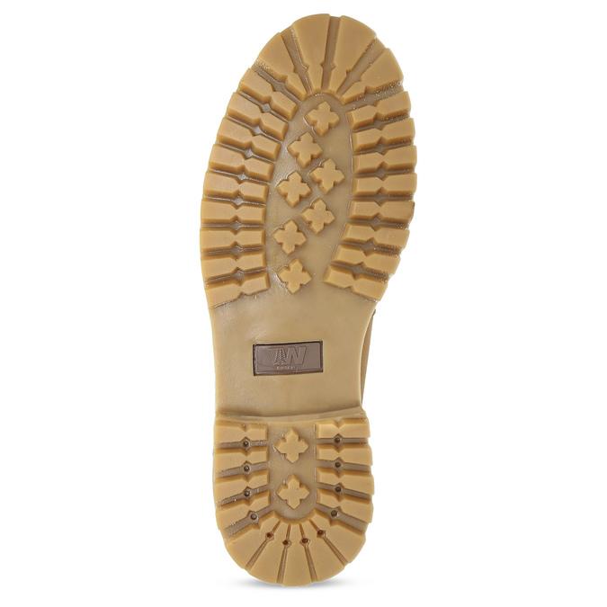 Sznurowane obuwie męskie za kostkę weinbrenner, żółty, 896-8733 - 18