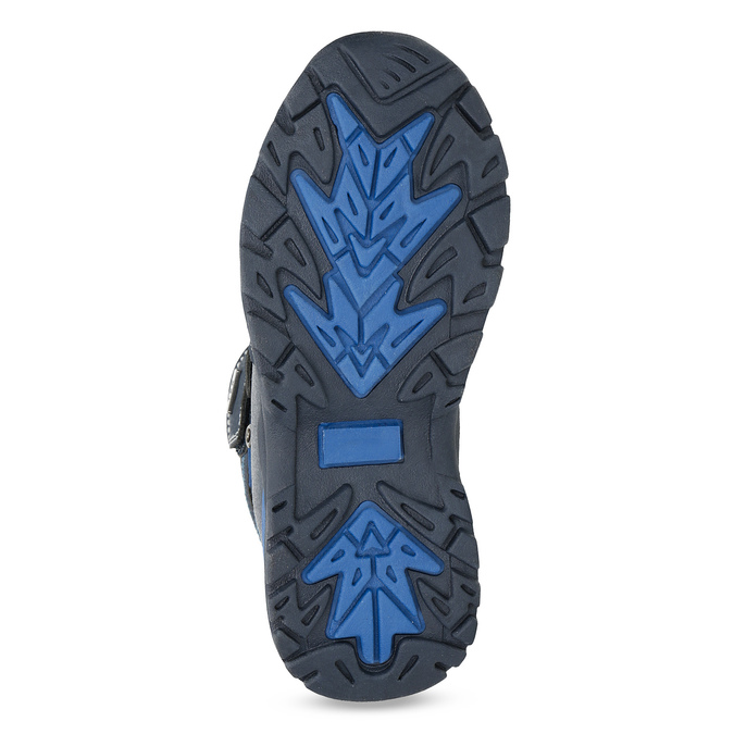 Zimowe buty dziecięce na rzepy mini-b, niebieski, 491-9653 - 18