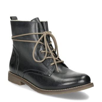 Granatowe botki zociepliną bata, niebieski, 596-9702 - 13