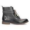 Granatowe botki zociepliną bata, niebieski, 596-9702 - 19