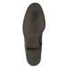 Brązowe skórzane kozaki zprzeszyciami bata, brązowy, 596-4700 - 18