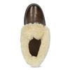 Skórzane botki damskie zfuterkiem bata, brązowy, 694-4669 - 17