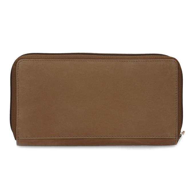 Skórzany portfel damski zdekoracyjnym elementem bata, brązowy, 944-4615 - 16