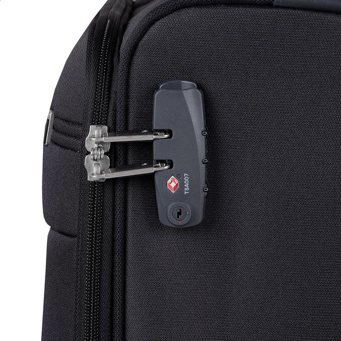 Czarna walizka na kółkach, zmateriału tekstylnego samsonite, czarny, 969-6618 - 15