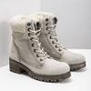 Skórzane buty zimowe zfuterkiem weinbrenner, beżowy, 696-3336 - 26