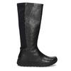Czarne skórzane kozaki damskie bata, czarny, 594-6684 - 19