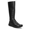 Czarne skórzane kozaki damskie bata, czarny, 594-6684 - 13