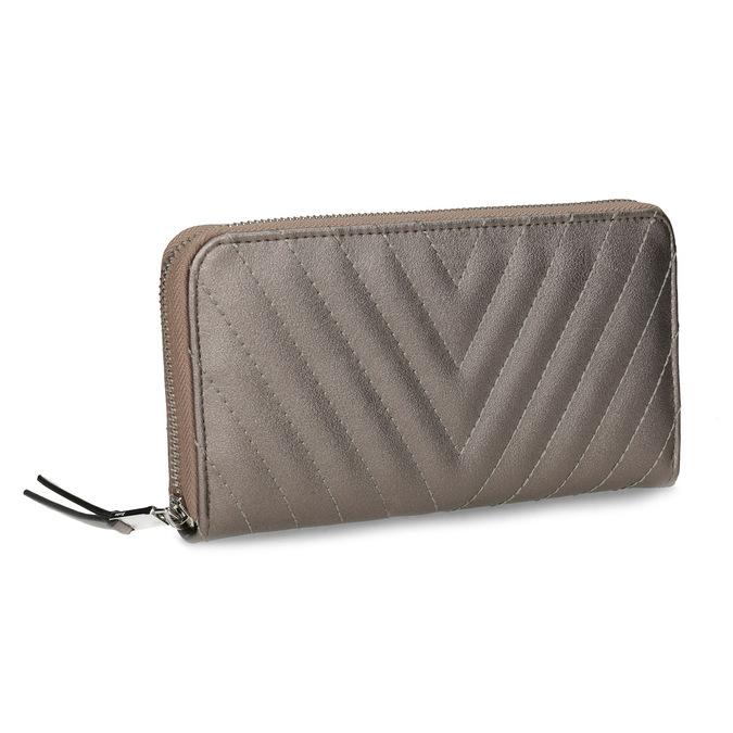 4003a525df08b Bata Brązowy pikowany portfel damski - Portfele