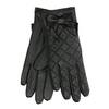 Pikowane skórzane rękawiczki damskie bata, czarny, 904-6139 - 13