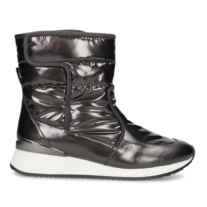 Damskie śniegowce metaliczne czarne bata, czarny, 599-6626 - 19