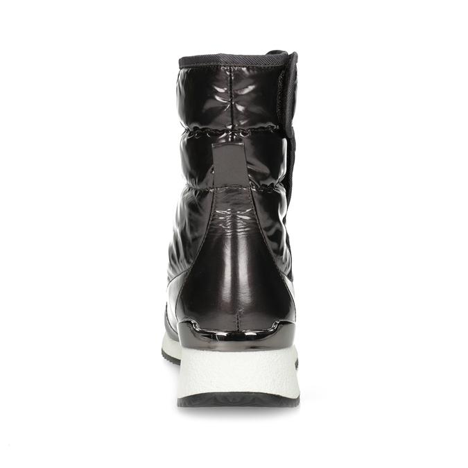 Damskie śniegowce metaliczne czarne bata, czarny, 599-6626 - 15