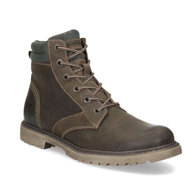 Brązowe zimowe obuwie męskie ze skóry weinbrenner, brązowy, 896-4693 - 13