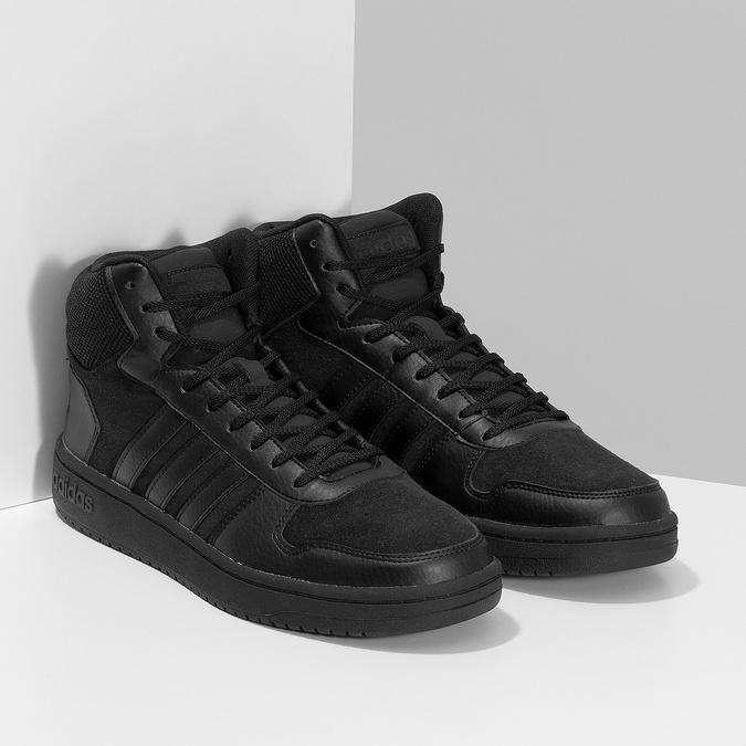 Czarne trampki męskie za kostkę adidas, czarny, 803-6118 - 26