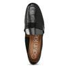 Czarne skórzane loafersy damskie calvin-klein, czarny, 514-6075 - 17