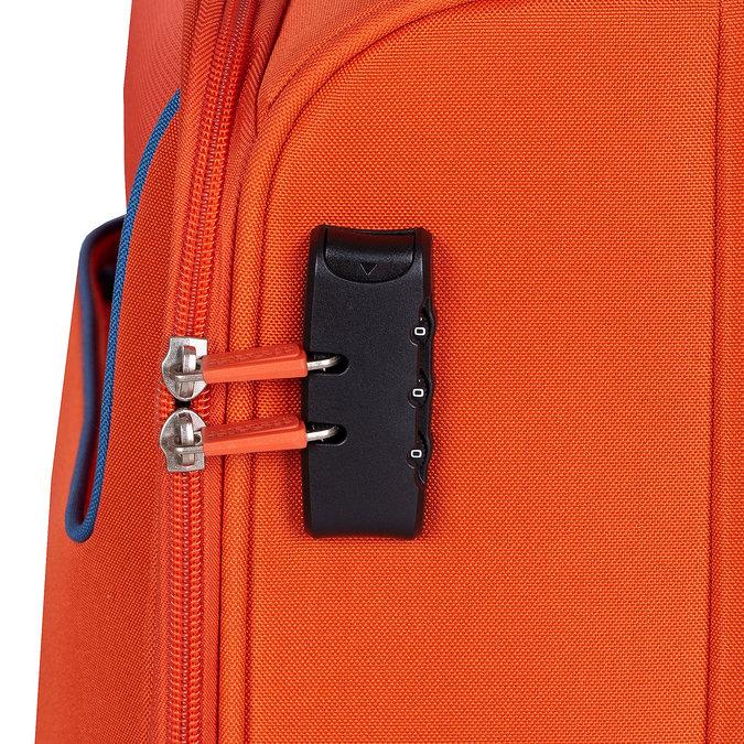 Pomarańczowa walizka zmateriału tekstylnego american-tourister, pomarańczowy, 969-8172 - 15