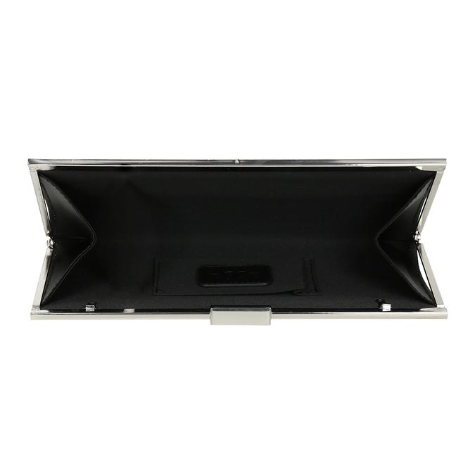 Czarna kopertówka damska na łańcuszku bata, czarny, 969-6811 - 15