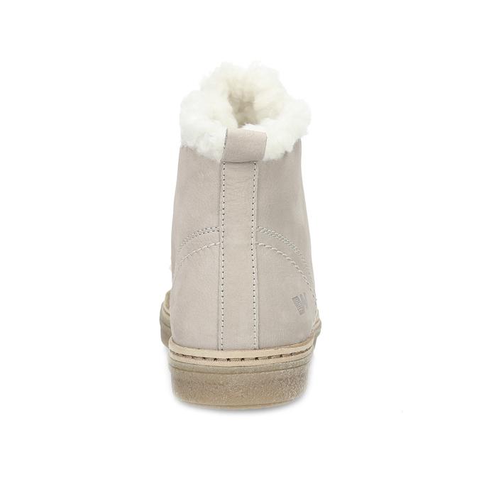 Skórzane zimowe obuwie za kostkę zfuterkiem weinbrenner, beżowy, 596-8730 - 15