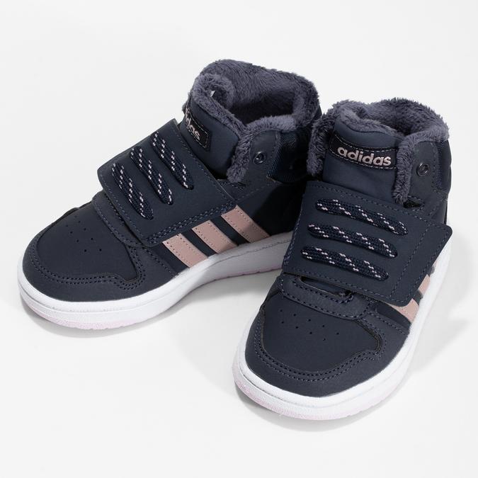 Granatowe zimowe trampki dziecięce za kostkę adidas, niebieski, 101-9197 - 16