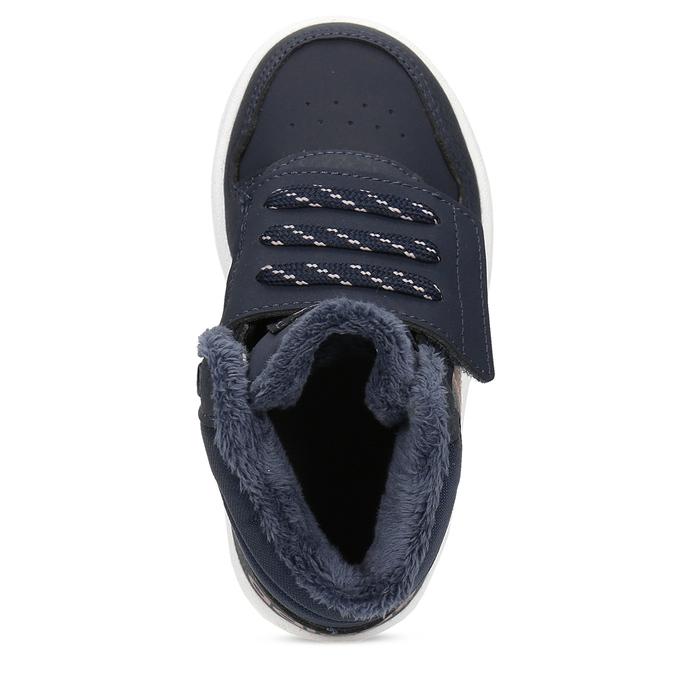 Granatowe zimowe trampki dziecięce za kostkę adidas, niebieski, 101-9197 - 17