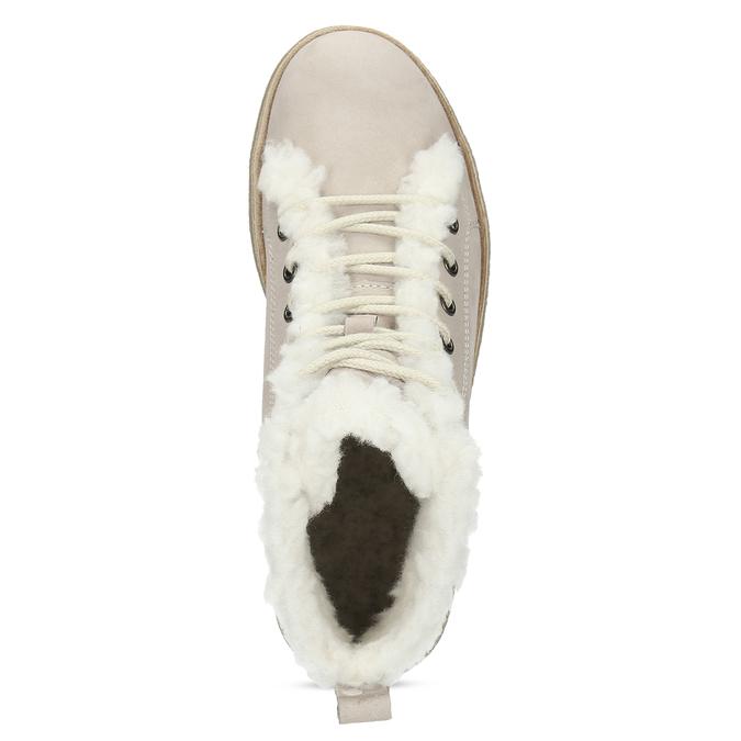 Skórzane zimowe obuwie za kostkę zfuterkiem weinbrenner, beżowy, 596-8730 - 17