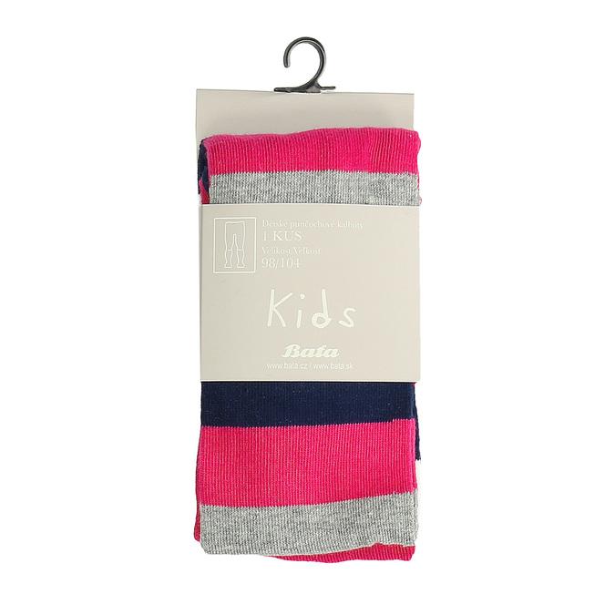 Różowe rajstopy dziecięce wpaski bata, multi color, 919-5687 - 13