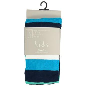 Granatowo-niebieskie rajstopy dziecięce wpaski bata, zielony, 919-7687 - 13
