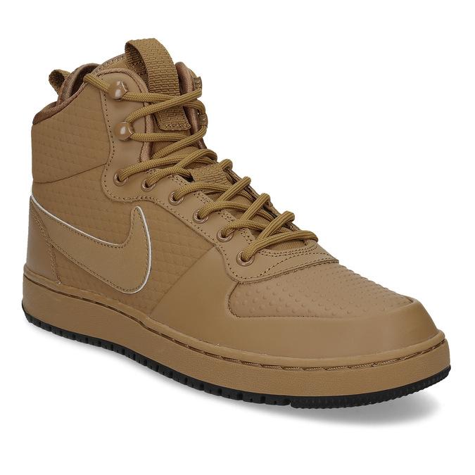 nowe przyloty popularna marka informacje o wersji na Nike Brązowe skórzane trampki męskie za kostkę